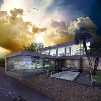 Render arquitectónico - exteriores