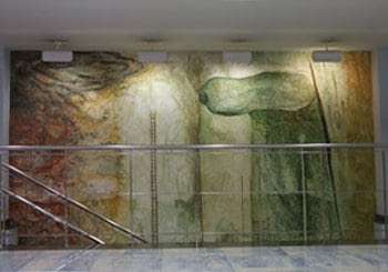FRESCO MURAL PAINTINGS IN SEGRE NEWSPAPER