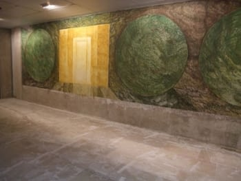 FRESCO MURAL PAINTING IN THE HALL OF ARNAU DE VILANOVA'S UNIVERSITY HOSPITAL