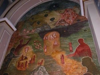 FRESCO MURAL PAINTINGS IN THE CHURCH OF L'ESPLUGA CALBA