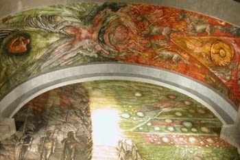 RESURRECTIO. FRESCO MURAL PAINTINGS AT THE CHURCH OF SANTA MARIA DE L'ALBA IN TÀRREGA