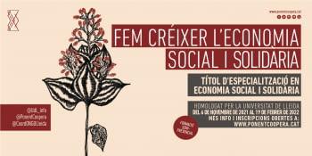 Obertes les inscripcions per a la quarta edició del Títol d'especialització en Economia Social i Solidària de la UdL impulsat per Ponent Coopera