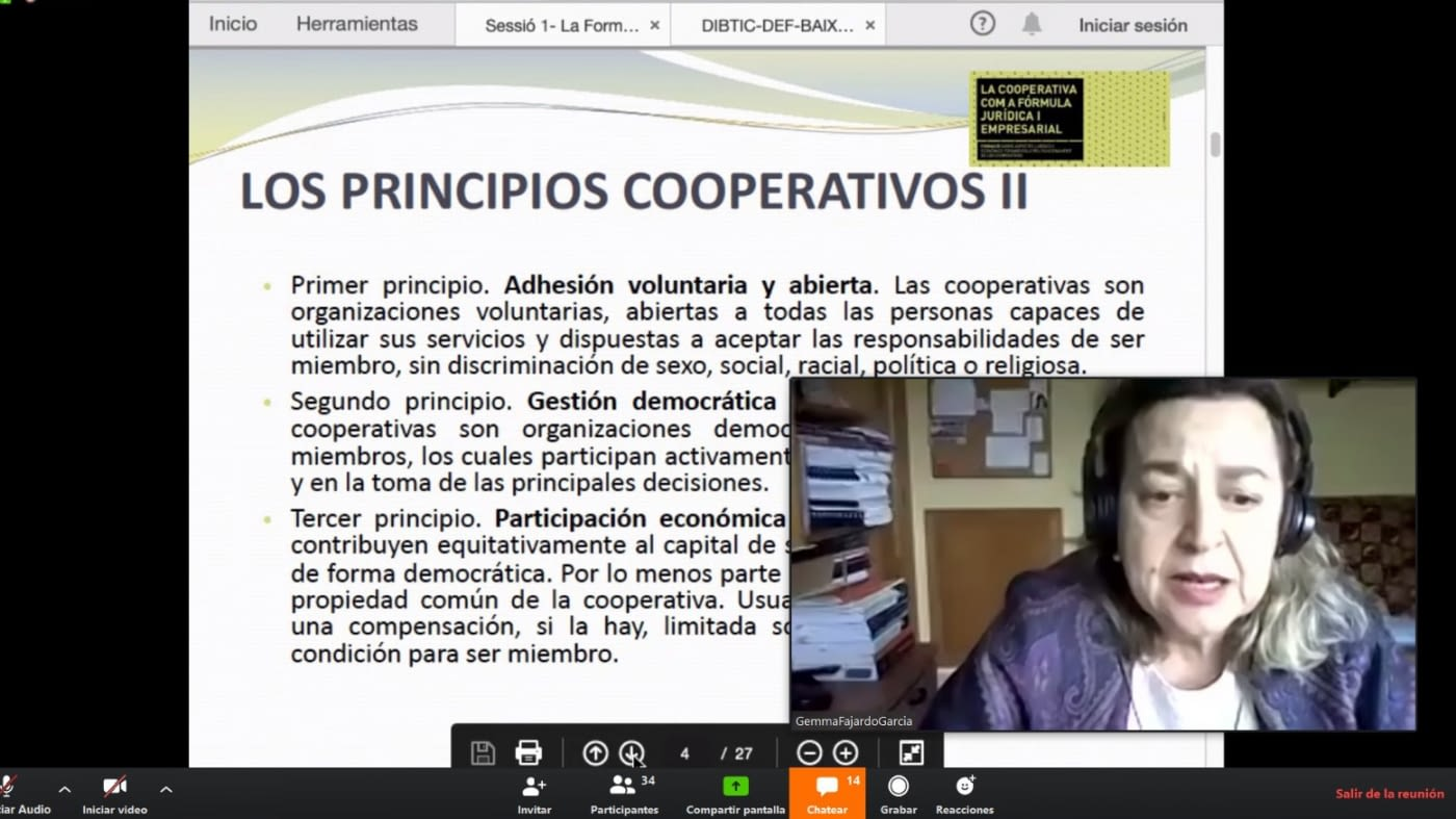 Èxit de participació en la primera sessió online de la formació adreçada a gestories i assessories
