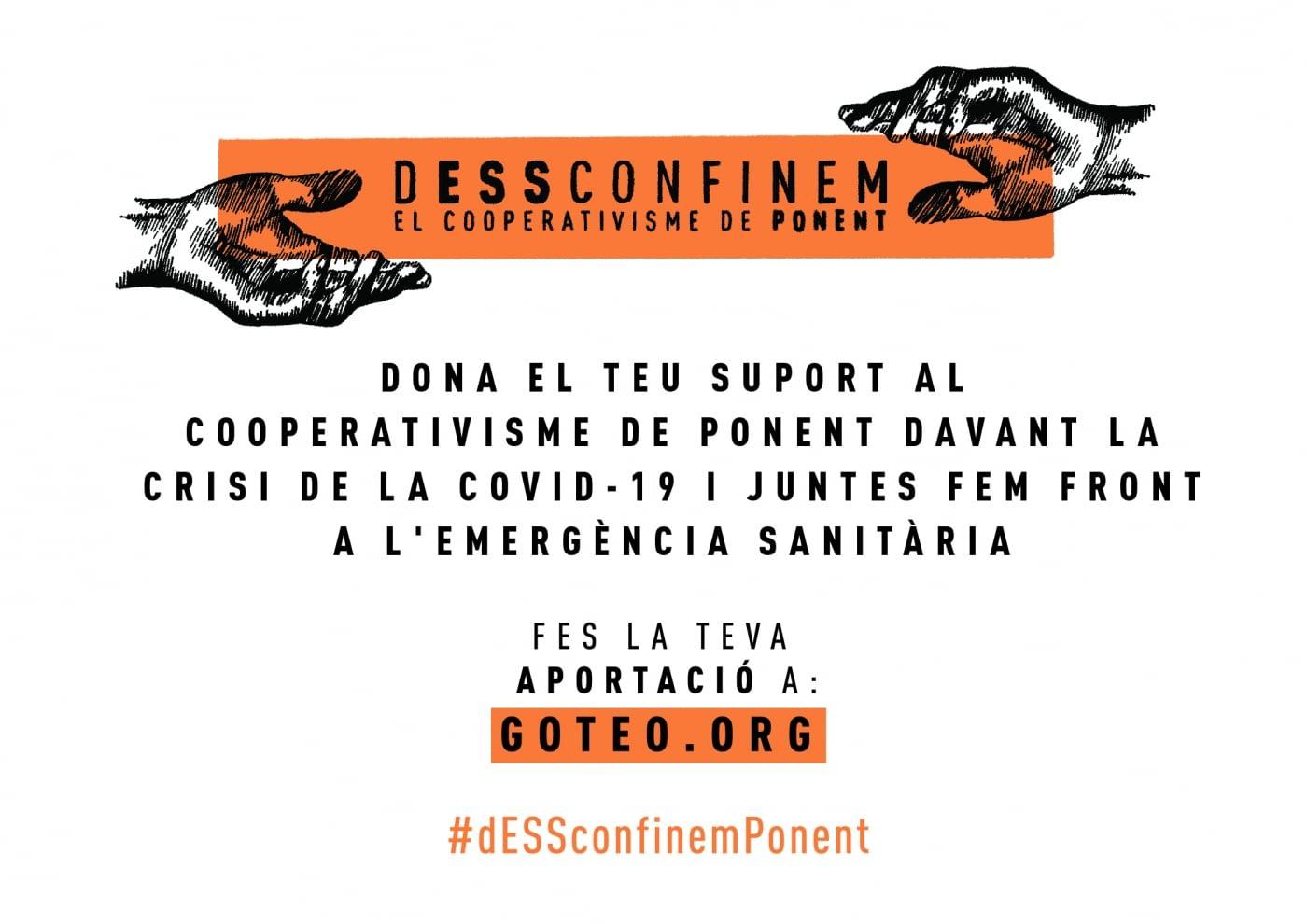 Ponent Coopera llança una campanya de micromecenatge per donar suport a les cooperatives de Ponent davant la crisi del Covid-19