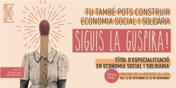 La tercera edició del Títol d'especialització en Economia Social i Solidària de la UdL impulsat per Ponent Coopera serà virtual