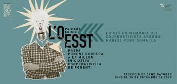 Ponent Coopera convoca el Premi L'OESST 2020 per a la millor iniciativa cooperativista de Ponent