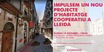 Impulsem un nou projecte d'habitatge cooperatiu a Lleida!