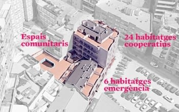 Ponent Coopera i La Dinamo Fundació impulsen un projecte amb trenta habitatges cooperatius al barri de Cappont