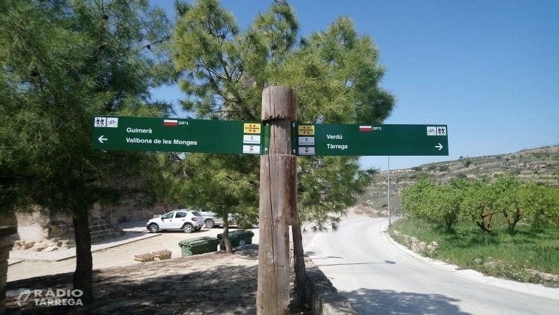 Finalitzen les tasques de manteniment i conservació de les rutes de senderisme i BTT de l'Urgell
