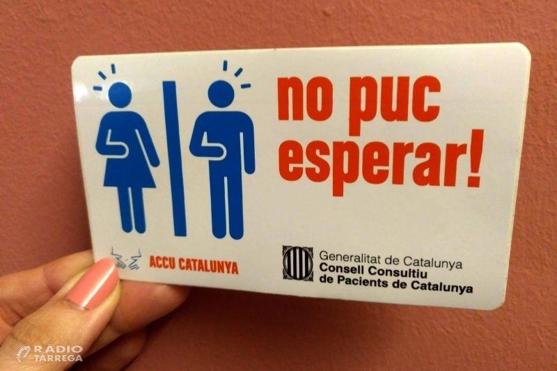 Tàrrega s'adhereix a la campanya 'No puc esperar!' per millorar la qualitat de vida de les persones amb malalties intestinals que necessiten usar un lavabo urgentment