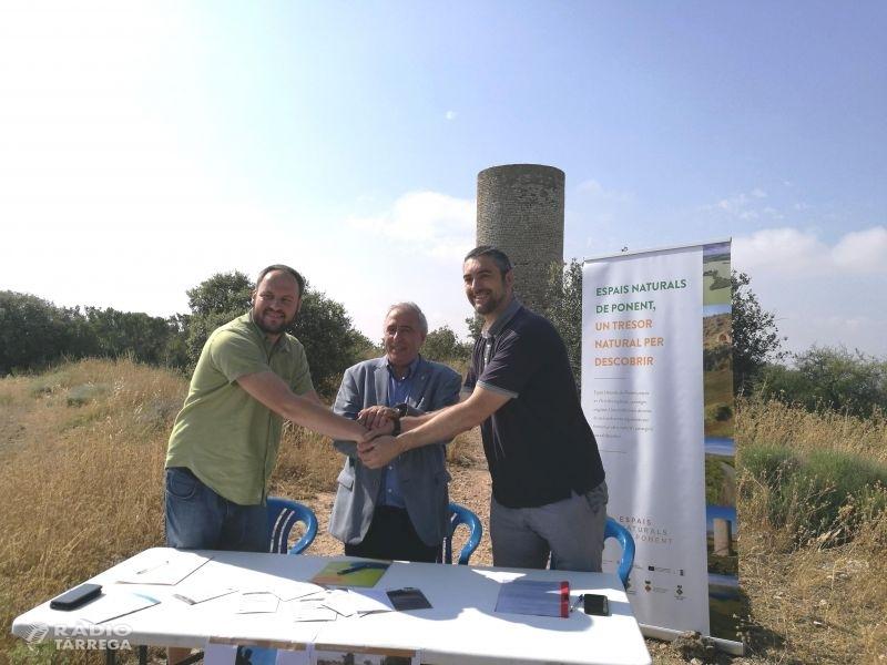 Agramunt i Castellserà firmen un conveni amb l'associació Leader de ponent per dinamitzar la serra de Bellmunt-Almenara