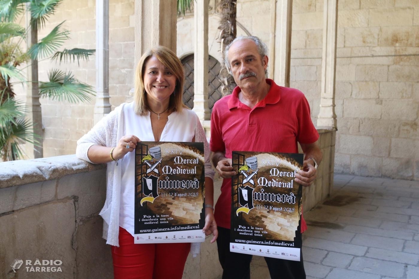 El Mercat Medieval de Guimerà espera l'11 i 12 d'agost entre 15.000 i 20.000 visitants per gaudir de les 125 parades, amb una quinzena d'artesans