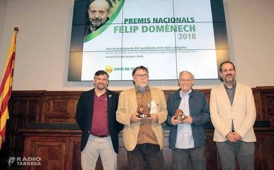 Unió de Pagesos distingeix  la cooperativa L'Olivera i l'ambientòleg Martí Boada amb els Premis Nacionals Felip Domènech 2018