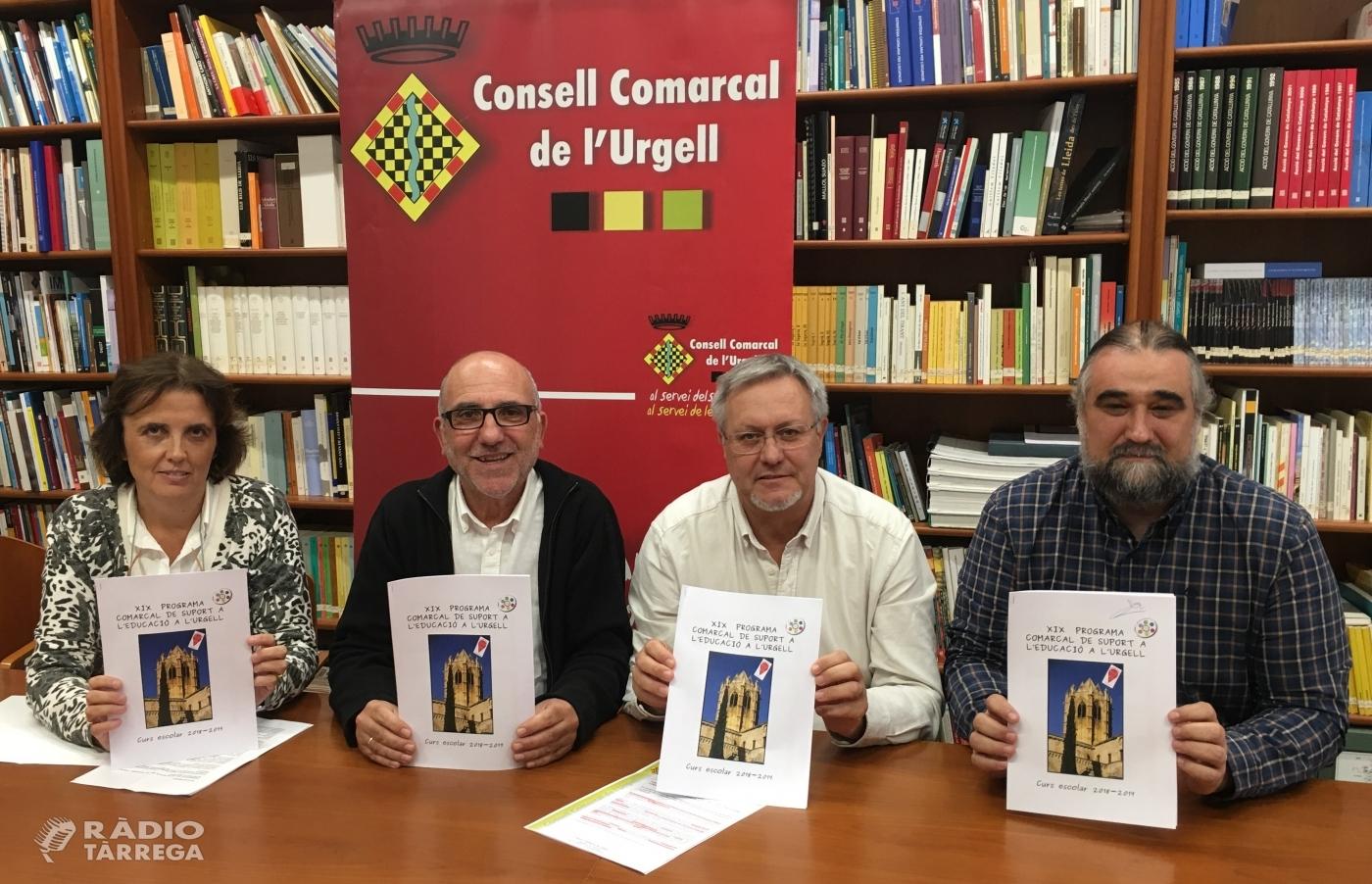 El Consell Comarcal de l'Urgell desplegarà aquest curs escolar 20 accions en el marc del XIX Programa Comarcal de Suport a l'Educació