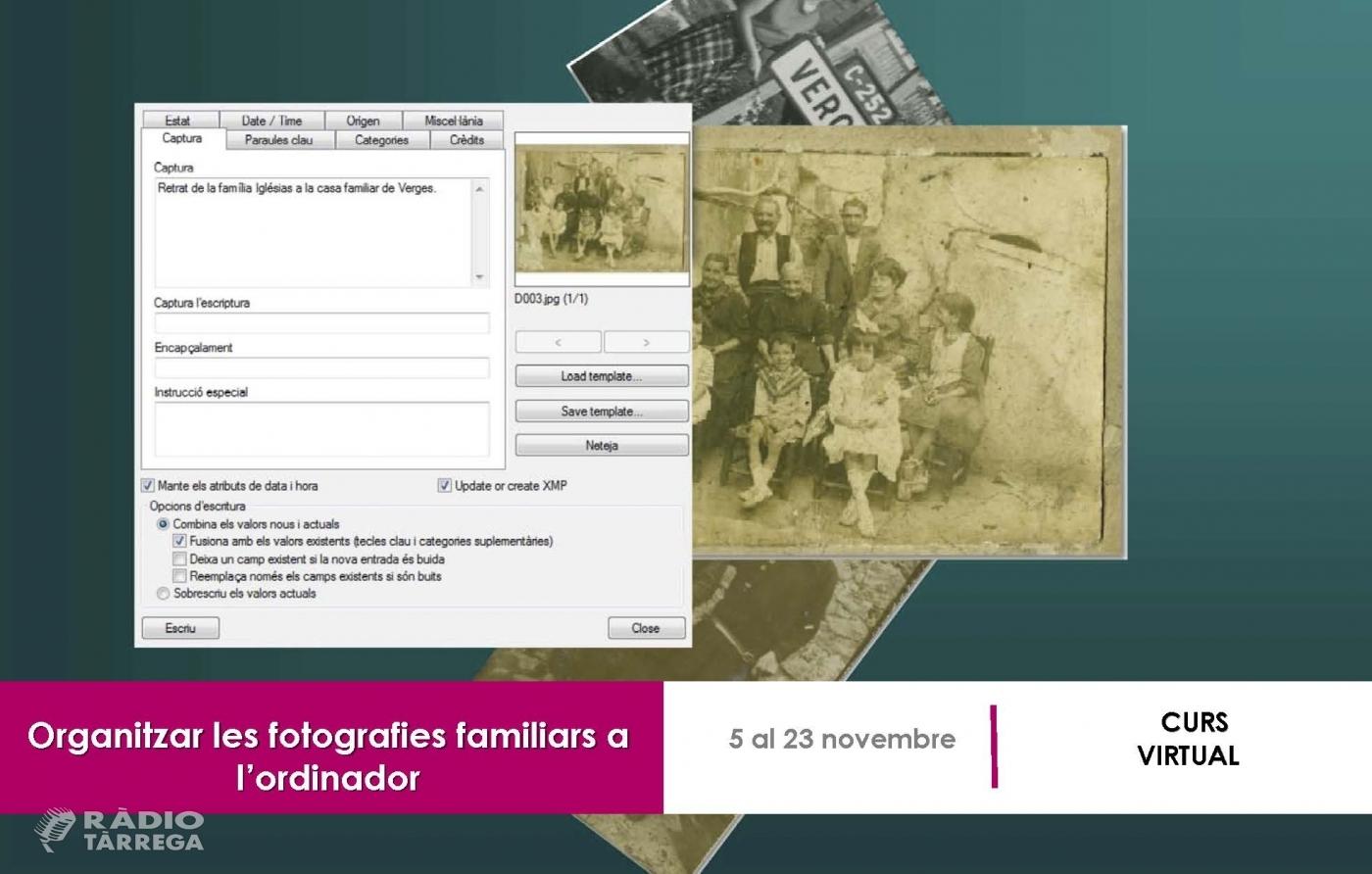 L'arxiu Comarcal de l'Urgell organitza un curs per aprendre a organitzar les fotografies familiars a l'ordinador