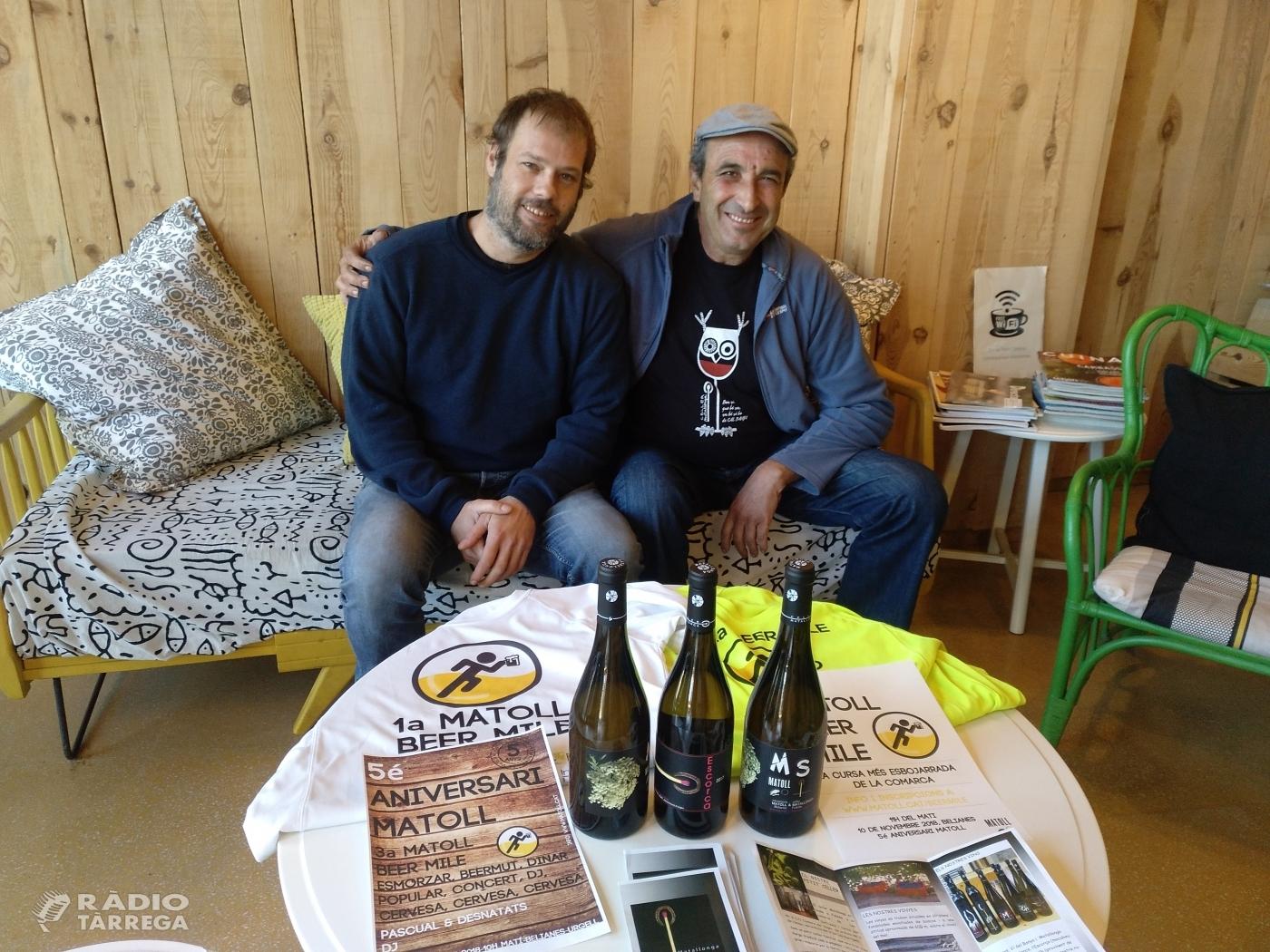 La cerveseria Matoll celebra el seu cinquè aniversari amb la cursa Matoll Beer Mile