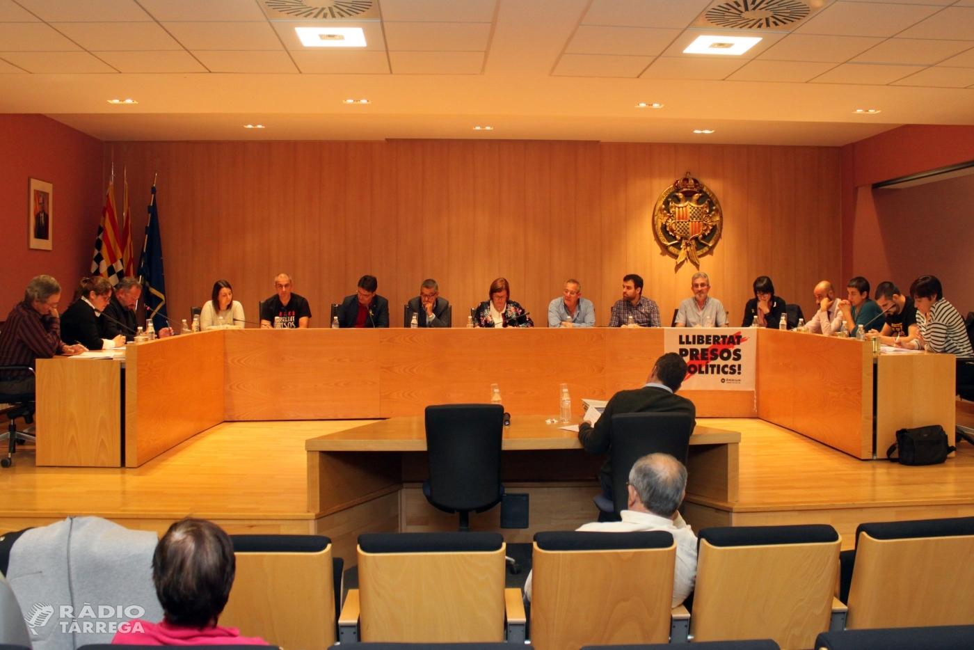 El Ple de l'Ajuntament de Tàrrega aprova rebaixar un 5% l'IBI urbà l'any 2019