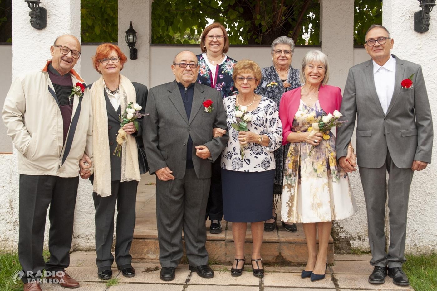 Matrimonis de Tàrrega celebren la tradicional festa de les Noces d'Or