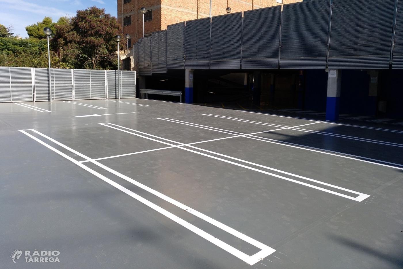 Tàrrega reobre avui dimecres 31 d'octubre el pàrquing municipal de l'avinguda de Catalunya, finalitzats els treballs de millora