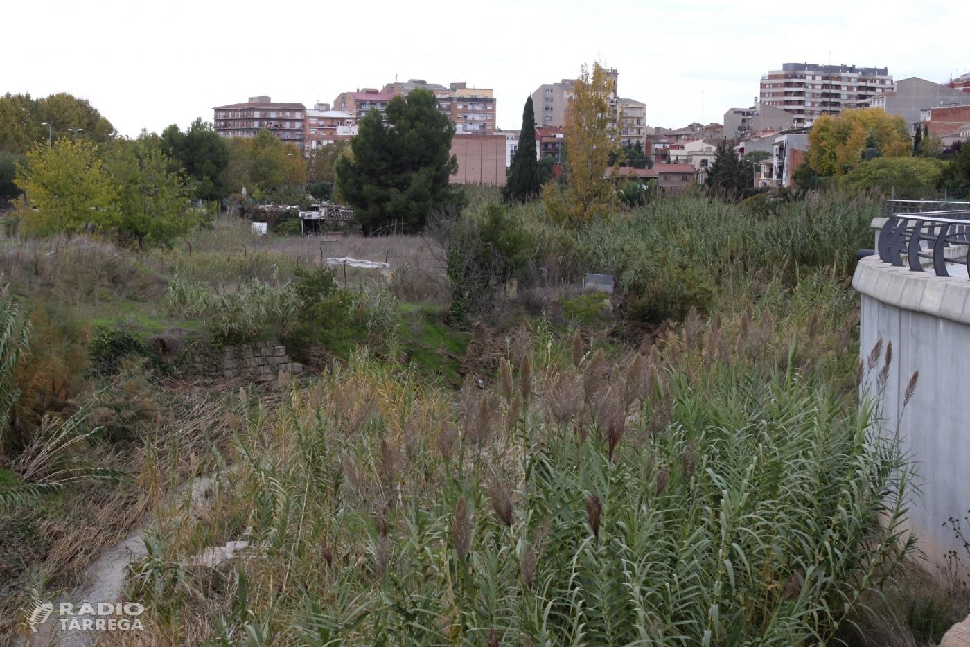 L'Ajuntament de Tàrrega finalitza l'expropiació d'horts vora el riu Ondara i licitarà durant el desembre les obres per convertir l'espai en zona de passeig