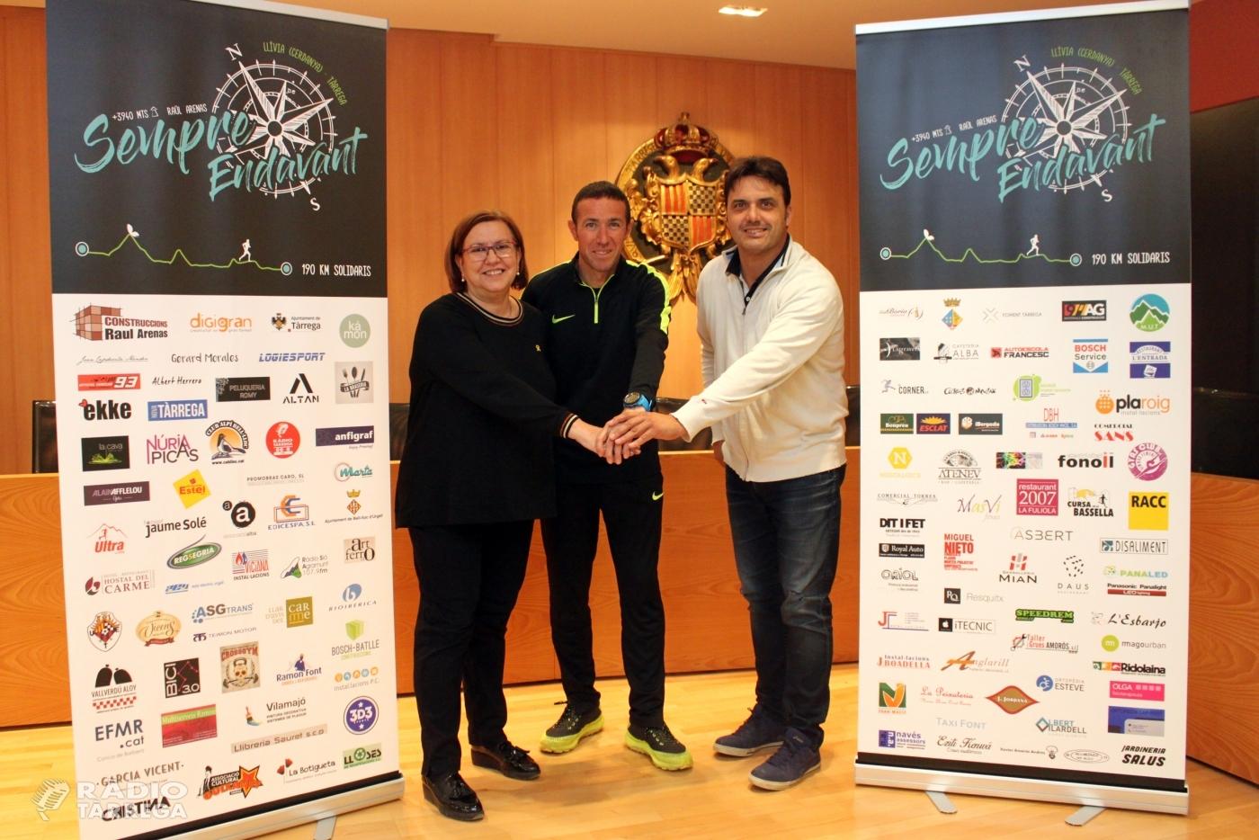 L'Ajuntament de Tàrrega col·labora en la nova iniciativa solidària de l'atleta Raül Arenas en favor d'una noia amb mobilitat reduïda