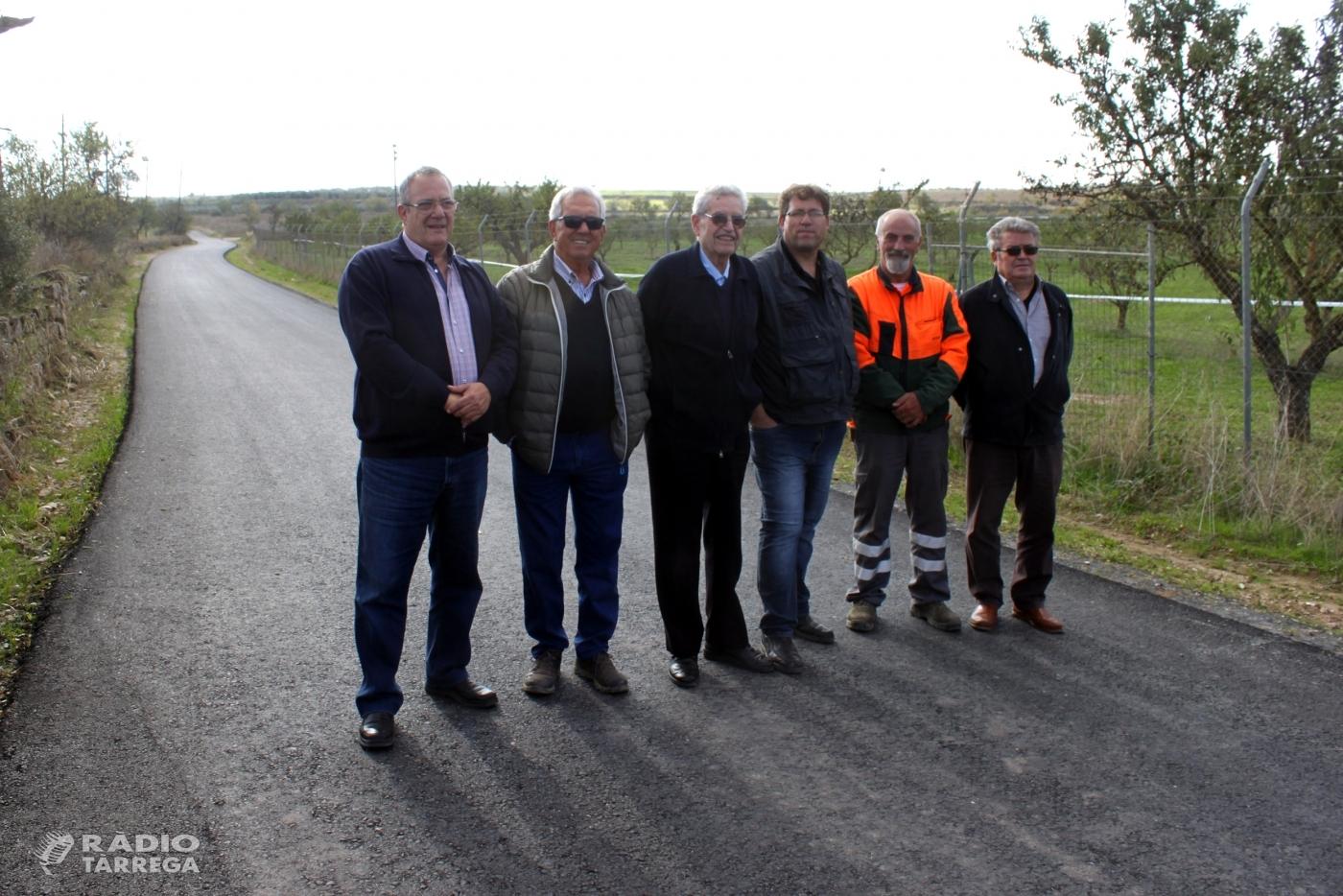 Tàrrega culmina els treballs d'arranjament de la via rural que comunica amb el terme de Verdú