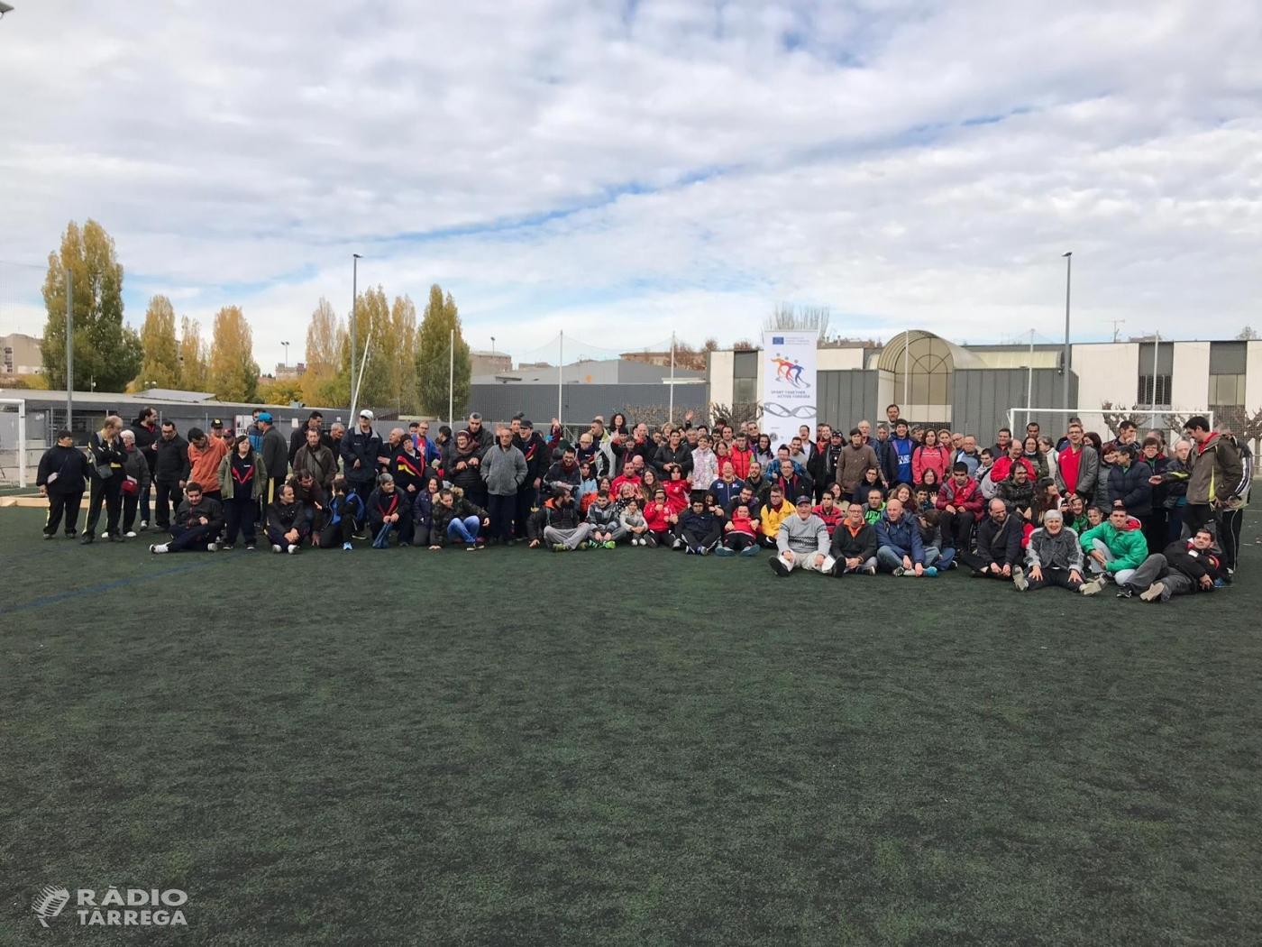 160 persones participen al primer torneig provincial de Bocce organitzat per l'Associació Alba a Tàrrega