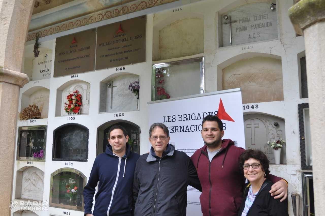 Familiars dels Estats Units dels Brigadistes Internacionals visiten Tàrrega