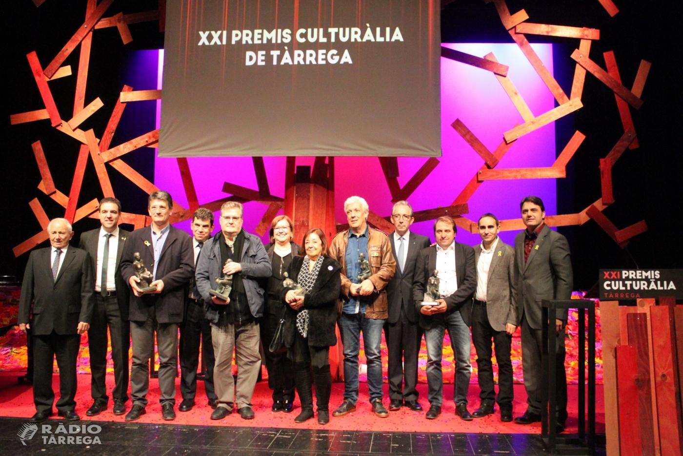 Tàrrega lliura els Premis Culturàlia 2018 en reconeixement a la tasca de persones i entitats del territori