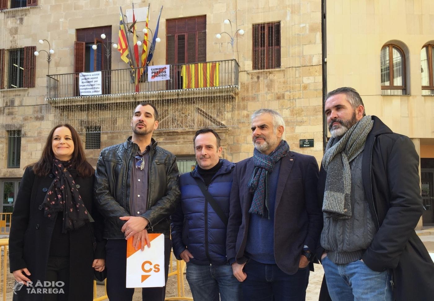 El portaveu parlamentari de Ciutadans Carlos Carrizosa a Tàrrega per donar suport al grup de treball local