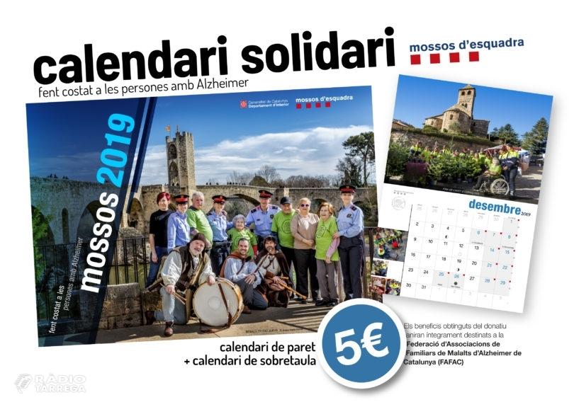 La Biblioteca de Tàrrega acollirà avui dijous la presentació del calendari solidari dels Mossos d'Esquadra
