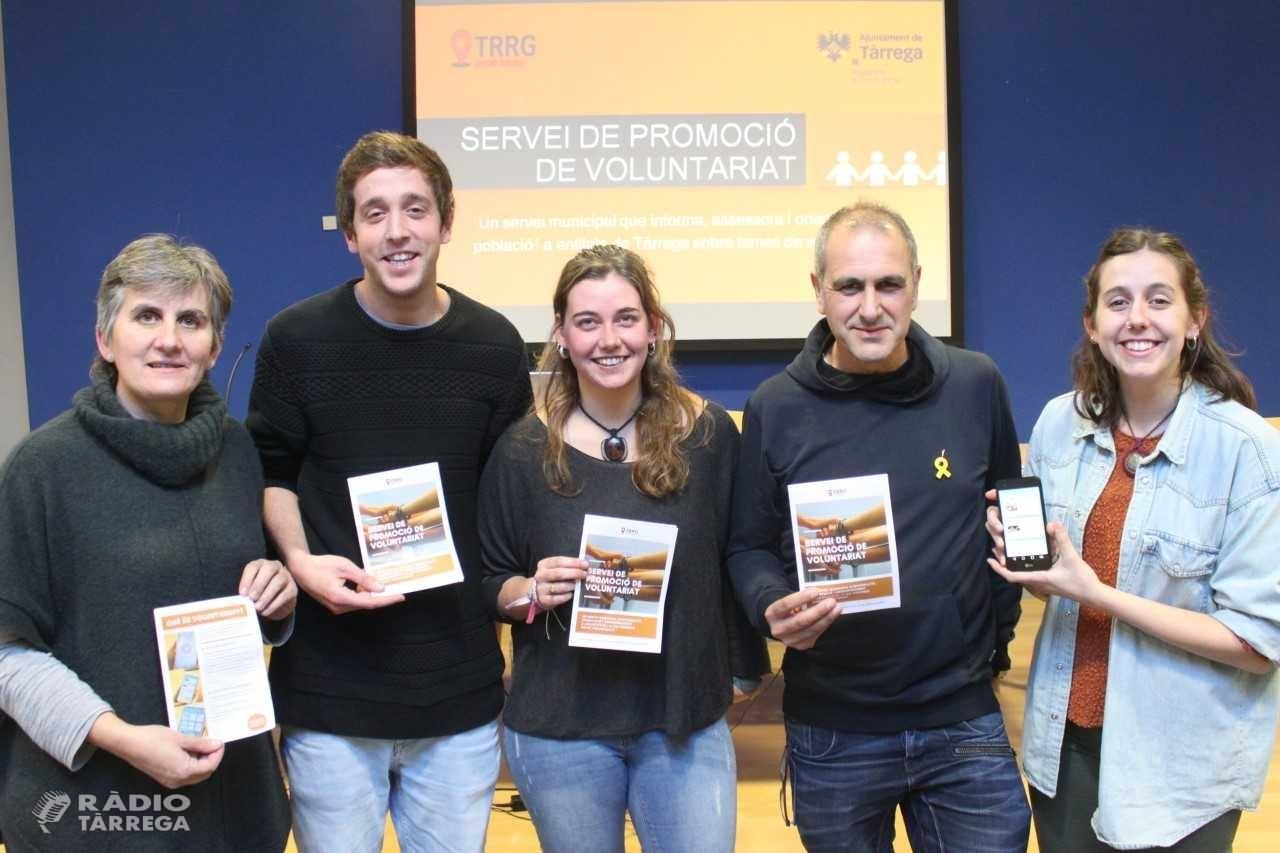 Tàrrega posa en marxa el Servei de Promoció de Voluntariat, que es complementa amb una aplicació mòbil creada per l'Associació Alba