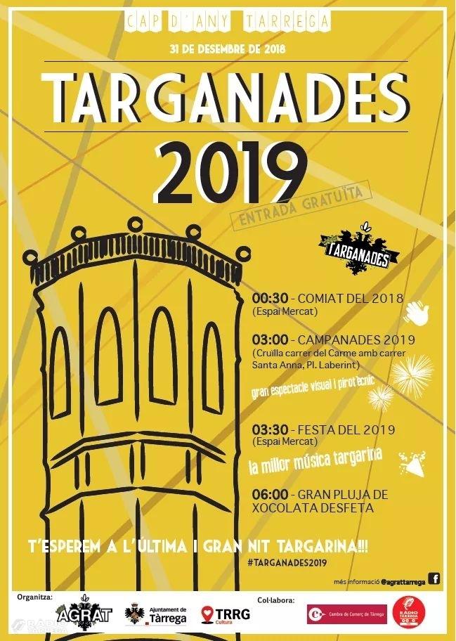 Anna Palou i Joan Nicolau, presentadors de les Targanades 2019, el Cap d'Any a Tàrrega
