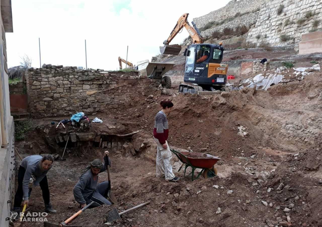 L'Ajuntament de Tàrrega finalitza una nova campanya d'excavacions arqueològiques a la zona del castell medieval