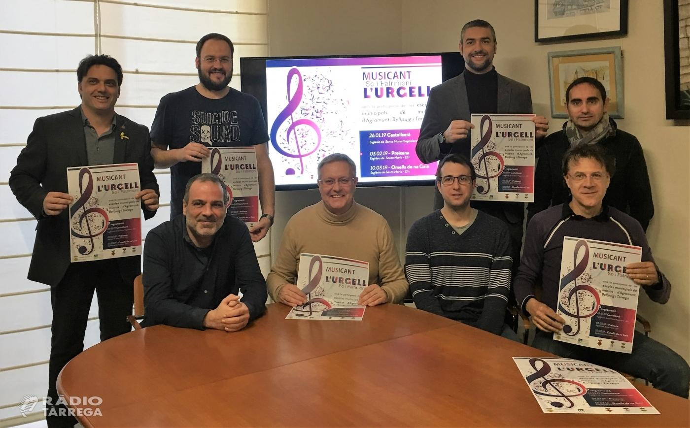 """Torna el cicle """"Musicant l'Urgell"""" amb la participació de 200 alumnes de les escoles de música de Tàrrega, Agramunt i Bellpuig"""