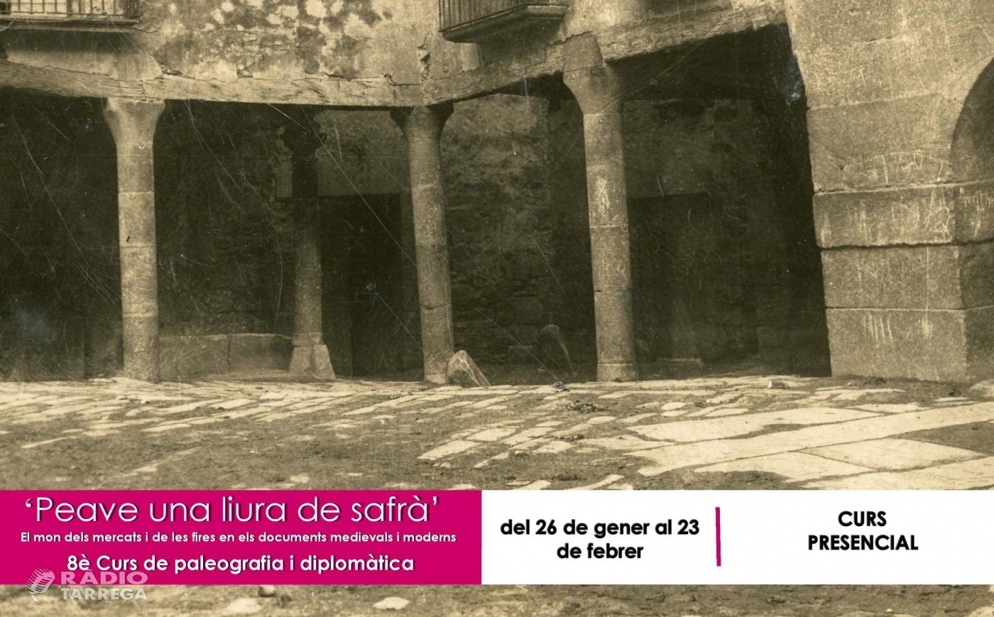 L'Arxiu Comarcal de l'Urgell programa el 8è curs de paleografia i diplomàtica