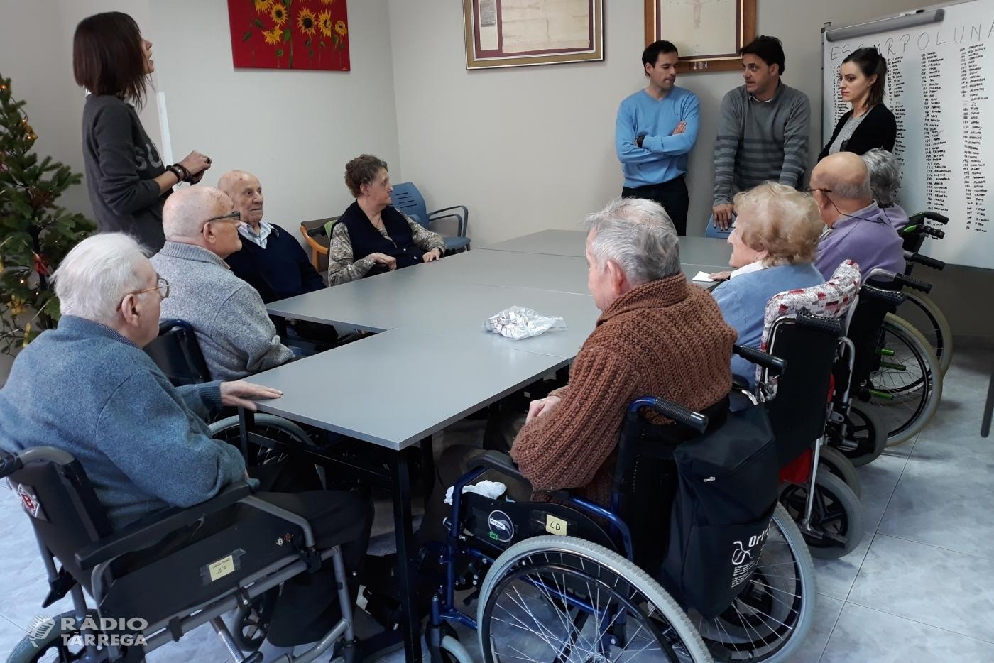 Tàrrega desenvolupa un taller de logopèdia per a usuaris de la Residència de Gent Gran Sant Antoni amb trastorns de la parla