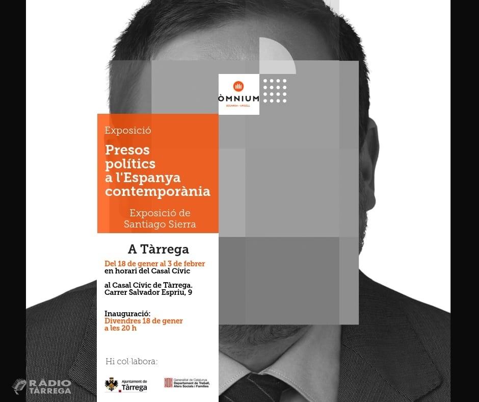 """Òmnium Segarra-Urgell porta l'exposició """"Presos Polítics a l'Espanya contemporània"""", de l'autor Santiago Sierra, a Tàrrega"""