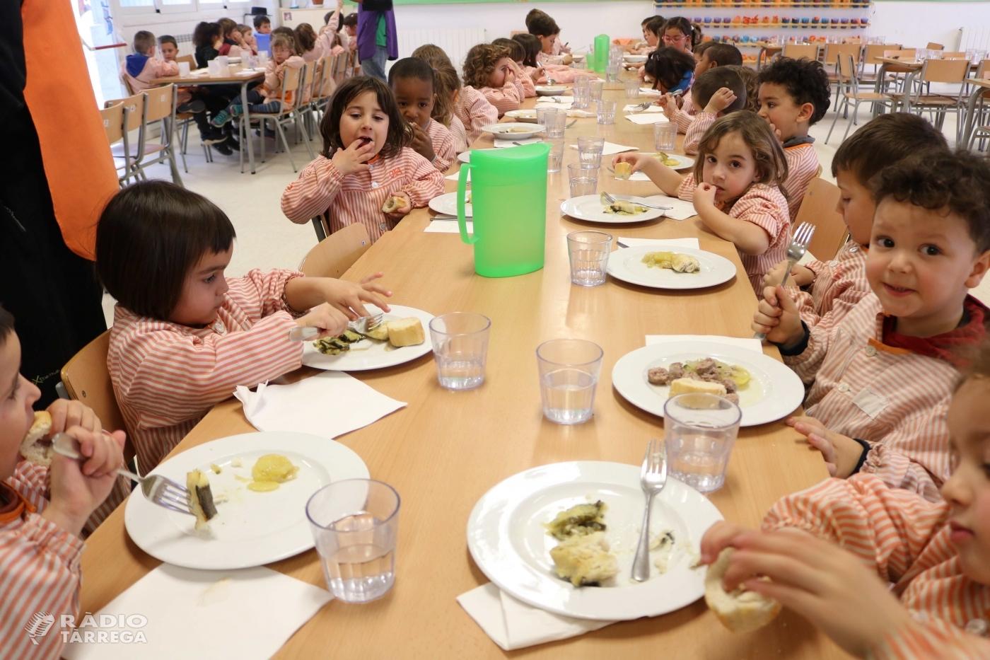 Els menjadors escolars de Quàlia seleccionats per impulsar la cuina climàtica als seus menus escolars