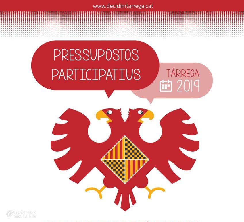 El pressupostos participatius de Tàrrega reben més de 300 propostes fetes per la ciutadania en la seva primera fase