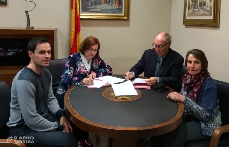 La Residència de Gent Gran Sant Antoni de Tàrrega disposarà d'un nova sala per activitats gràcies a un acord de col·laboració amb l'empresa Borges