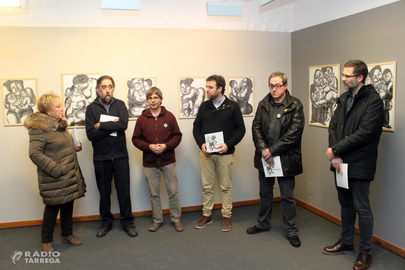 Tàrrega ret un reconeixement pòstum a l'artista local Miquel Solé en una exposició que recull les seves darreres obres inèdites