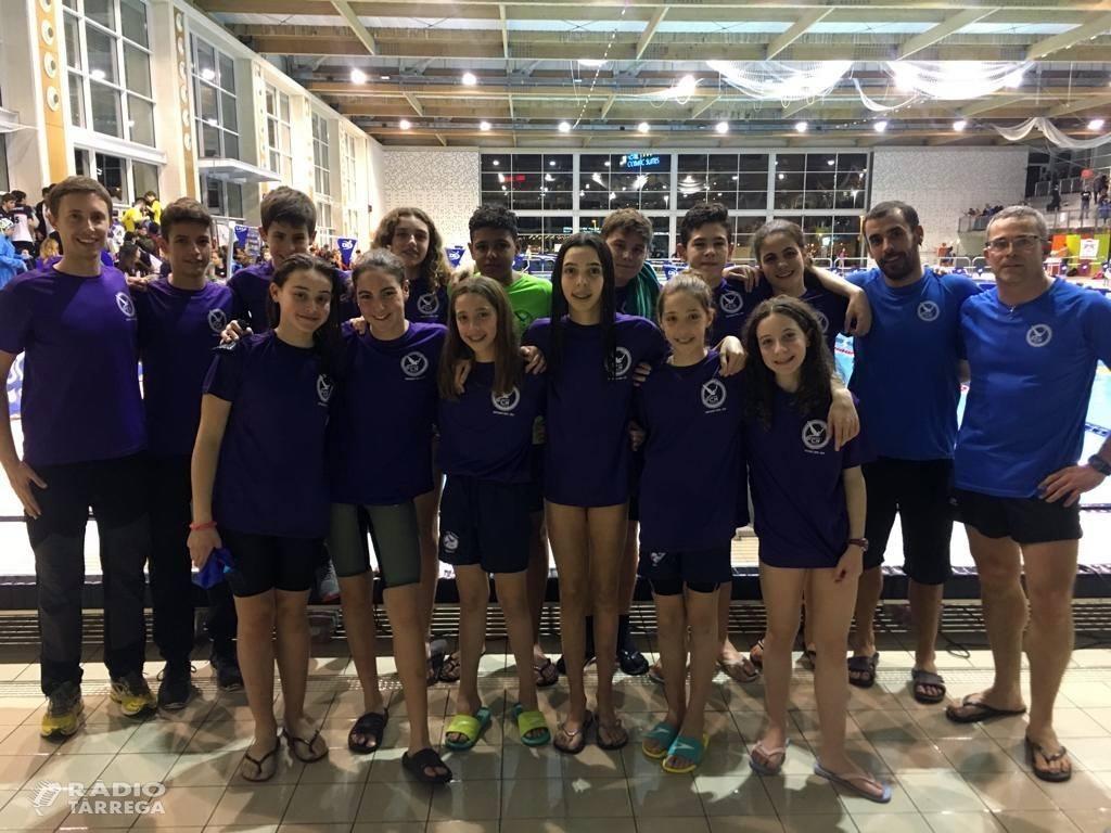 La secció de natació del CN Tàrrega queda setena de Catalunya per equips al campionat Aleví