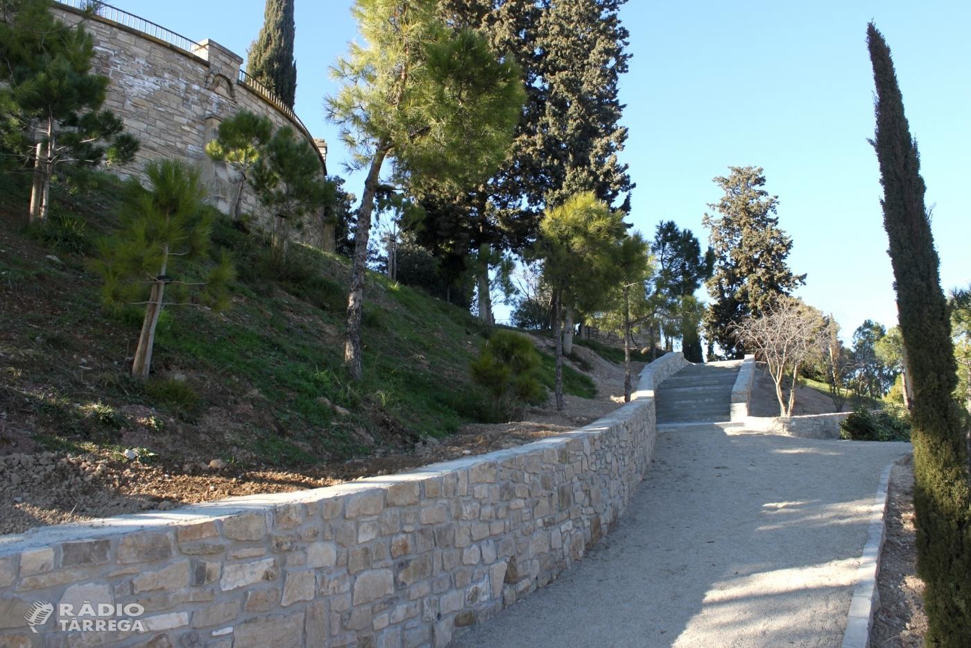 Tàrrega enllesteix les obres de millora del passeig de Magí Manonelles, al Parc de Sant Eloi