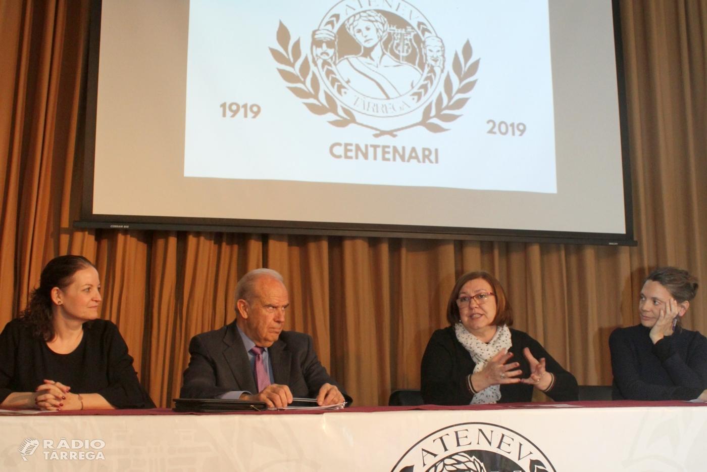 Tàrrega commemorarà el centenari de la Societat Ateneu amb una cinquantena d'activitats obertes al conjunt de la ciutadania