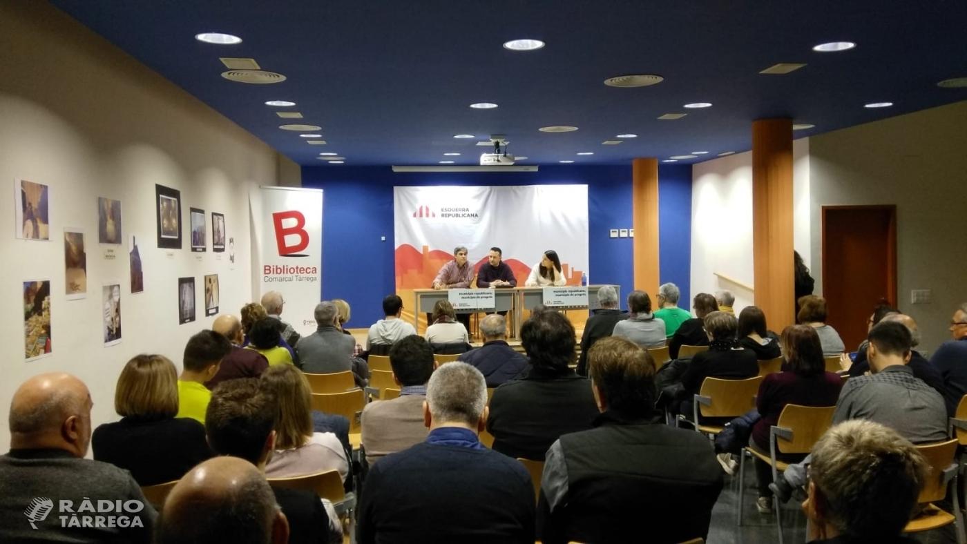El candidat d'ERC a l'alcaldia de Tàrrega, Òscar Amenós, escolta propostes de la ciutadania i entitats