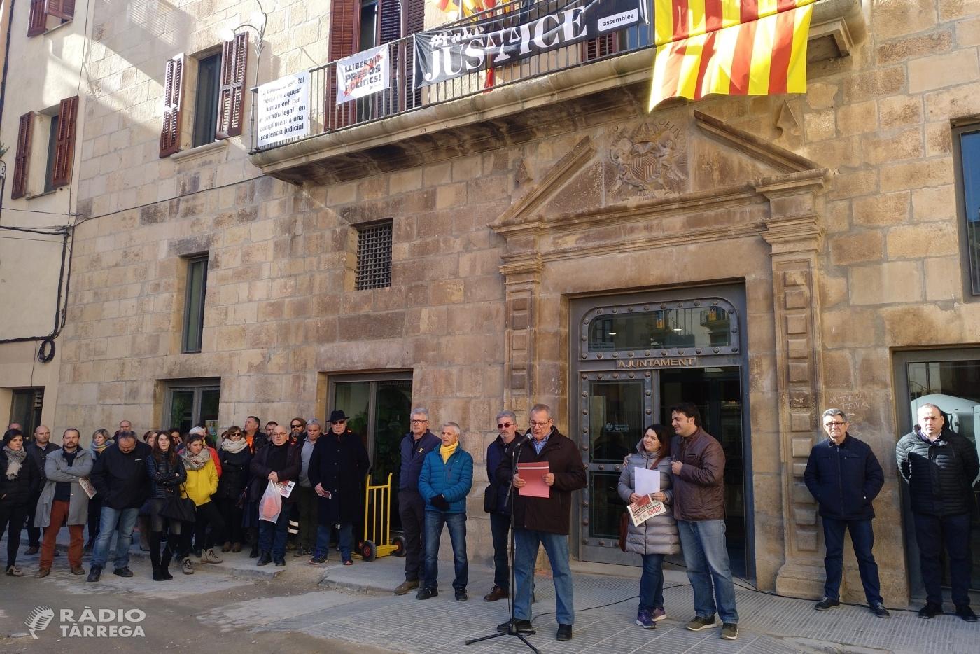 L'Ajuntament de Tàrrega es suma a l'aturada convocada per l'Associació de Municipis per la Independència