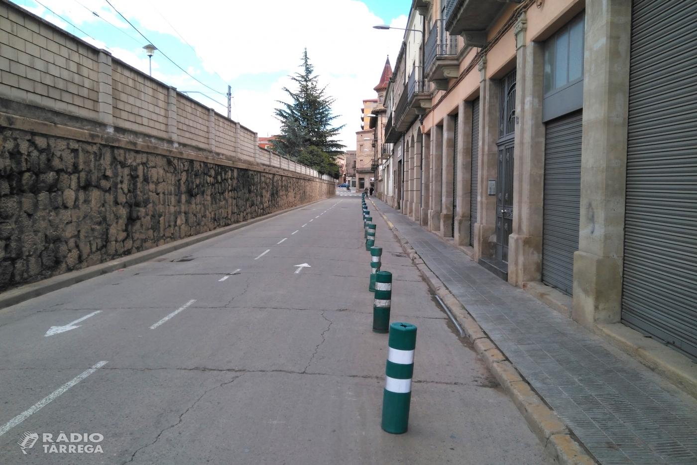 L'Ajuntament de Tàrrega inicia el dijous 14 de febrer les obres d'ampliació de la vorera del carrer del Segle XX
