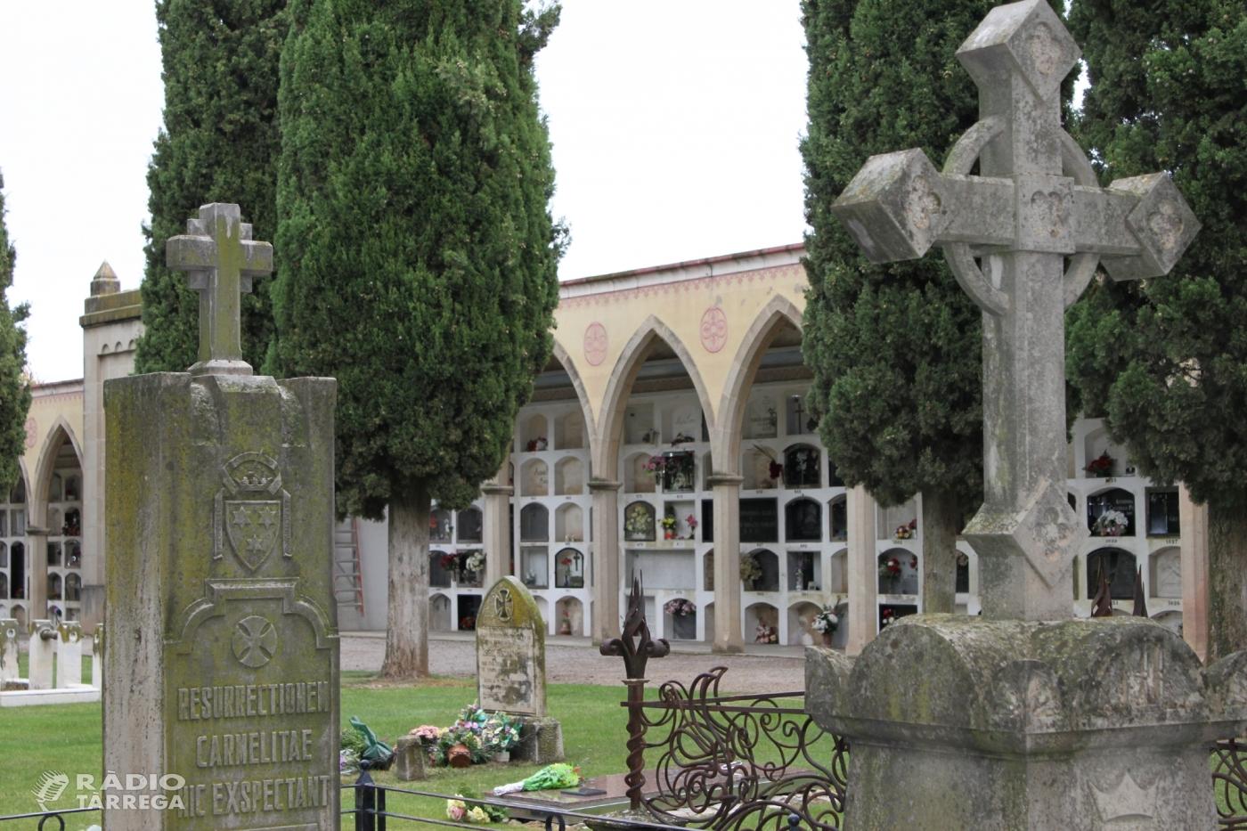 L'Ajuntament de Tàrrega aprova el projecte d'ampliació del cementiri municipal amb la construcció de 90 nous nínxols