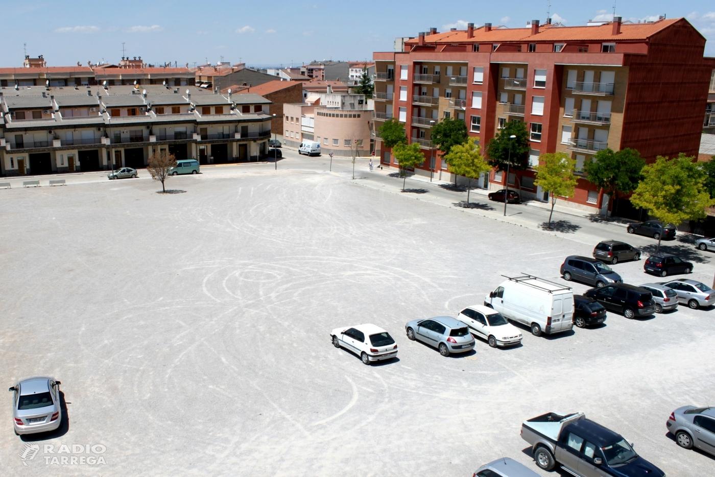 L'Ajuntament de Tàrrega aprova el projecte de remodelació de la plaça de les Bòbiles, que es transformarà en un espai arbrat de passeig